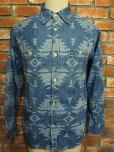 FIVEBROTHER ファイブブラザー NATIVE PATTERN DENIM WORK SHIRTS