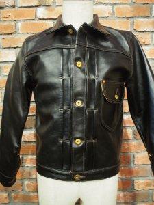DOUBLE HERIX ダブルヘリックス Western Cowboy Horse Hide  Leather Jacket ウエスタンカウボーイ ホースハイド レザージャケット