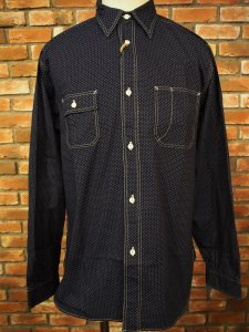 SUGAR CANE シュガーケーン FICTION ROMANCE 4.5oz. POLKA DOT WORK SHIRT