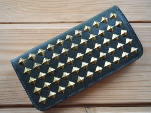THE UNION ザ ユニオン THE COLOR ザ カラー STUDS WALLET スタッズ ウォレット OLIVE オリーブ