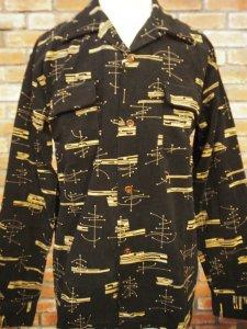 Style Eyes スタイルアイズ  SE28261 ATOMIC コーデュロイ 長袖 スポーツシャツ ブラック東洋エンタープライズ