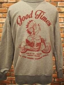 WESTRIDE ウエストライド HEAVY WEIGHT FRONT V SWEAT GOOD TIMES H.GRY