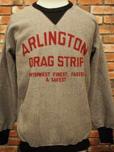 WESTRIDE ウエストライド HEAVY WEIGHT FRONT V SWEAT 2-TONE DRAG STRIP
