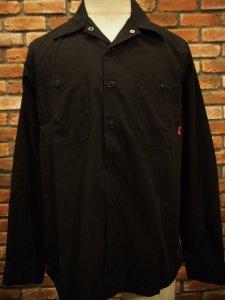 BLUCO ブルコ OL-109-020 ワークシャツ STD WORK SHIRTS L/S BLK ブラック
