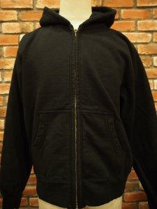 WHITES VILLE ホワイツビル WV67914 SWEAT ZIP PARKA スウェット ジップ パーカー フード BLACK ブラック