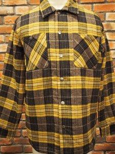 ブルコ BLUCO OL-046-020 QUILTING SHIRTS YELLOW イエロー メンズ トップス ネルシャツ
