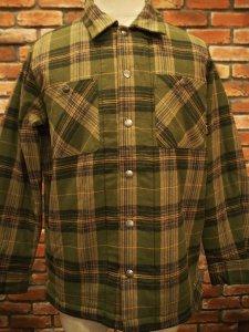 ブルコ BLUCO OL-046-020 QUILTING SHIRTS OLIVE オリーブ メンズ トップス ネルシャツ