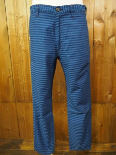 SUGAR CANE Light INDIGO STRIPE TROUSERS