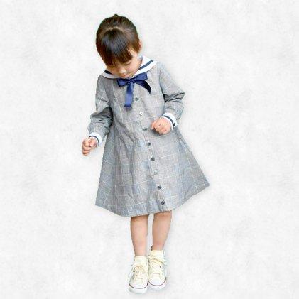セーラーカラーOP&シャツ・子供服・型紙