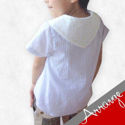 アレンジ型紙・セーラーカラーOP&シャツ「三角襟×四角タイ」・子供服・型紙