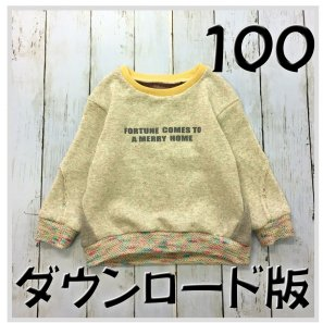 ◆ダウンロード版◆スラッシュトレーナー・100サイズ・子供服・型紙
