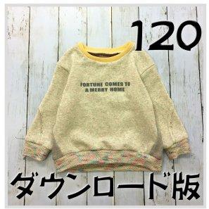 ◆ダウンロード版◆スラッシュトレーナー・120サイズ・子供服・型紙