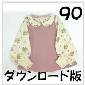 ◆ダウンロード版◆ドルチェカットソー・90サイズ・子供服・型紙