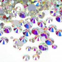 ガラス製 ラインストーン<BR>オーロラクリスタル SS3〜SS50サイズ選択可