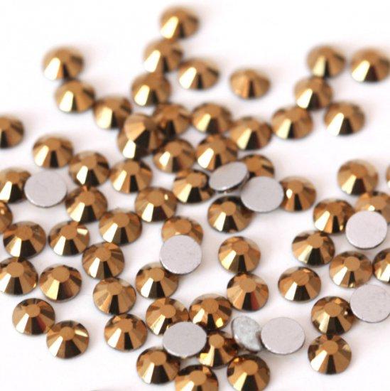 超高級 ガラス製 ラインストーン<BR>ゴールドマイン SS3〜SS30サイズ選択可