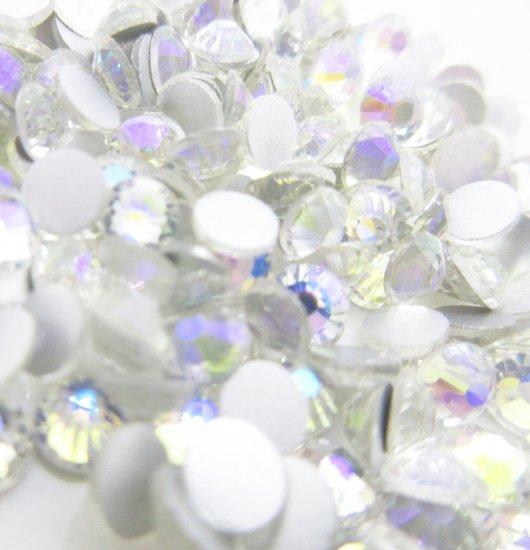 超高級 ガラス製 ラインストーン<BR>シマークリスタル SS3〜SS30 サイズ選択可