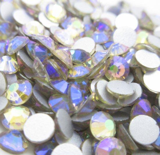 超高級 ガラス製 ラインストーン<BR>シマーアメジスト SS3〜SS30 サイズ選択可