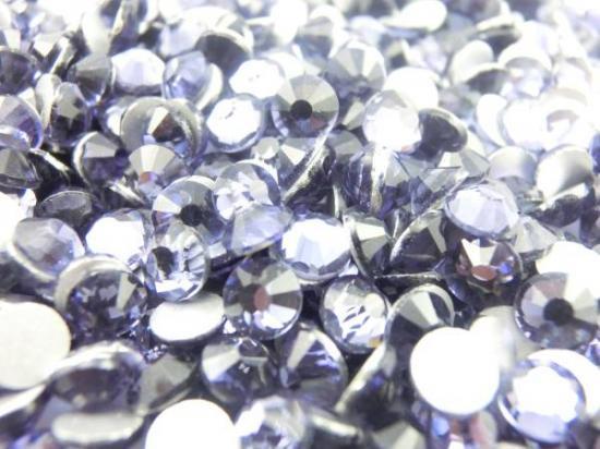 【納期4週間程度】卸専用ガラスラインストーン タンザナイト<br>SS3〜SS30サイズ選択可 約14400粒
