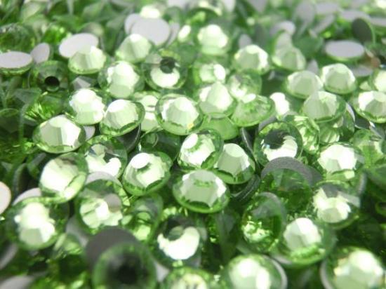 【納期4週間程度】卸専用ガラスラインストーン ペリドット<br>SS3〜SS30サイズ選択可 約14400粒