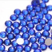 【納期4週間程度】卸専用ガラスラインストーン サファイア<br>SS3〜SS30サイズ選択可 約14400粒