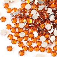 アクリルラインストーン オレンジ 2mm〜6mmサイズ選択可