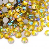 ガラス製 ラインストーン<BR>レモンAB SS3〜SS30サイズ選択可