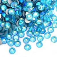 ガラス製 ラインストーン<BR>アクアマリンAB SS3〜SS30サイズ選択可