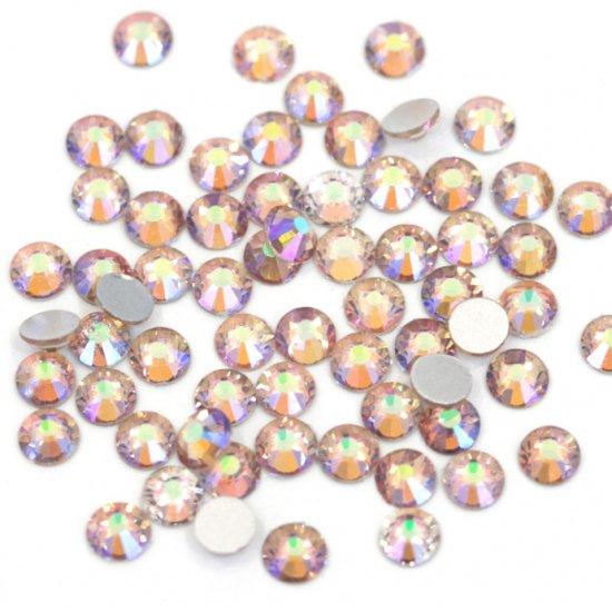 【納期4週間程度】卸専用ガラスラインストーン シマーアメジスト<br>SS3〜SS30サイズ選択可 約14400粒