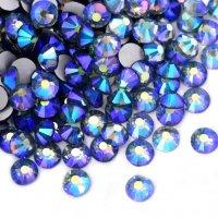 ガラス製 ラインストーン<BR>ブラックダイヤモンドAB SS3〜SS30サイズ選択可