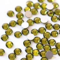 超高級 ガラス製 ラインストーン<BR>オリーブ SS4〜SS30サイズ選択可