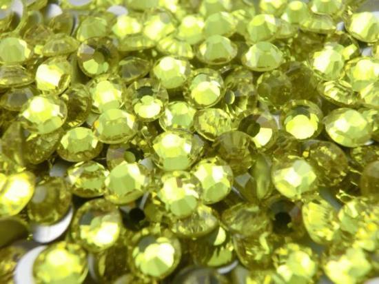 ガラス製 ラインストーン<BR>レモン SS3〜SS30サイズ選択可