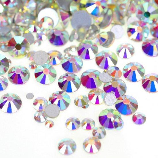 【納期4週間程度】卸専用ガラスラインストーン オーロラクリスタル<br>SS3〜SS20サイズ選択可 約14400粒