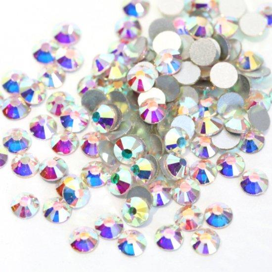 【納期4週間程度】卸専用ガラスラインストーン オーロラクリスタル<br>SS30/SS34サイズ選択可 約2880粒