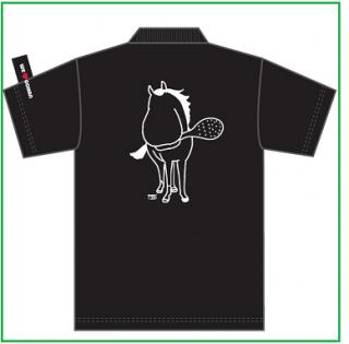 トキノミノルポロシャツ黒 M(送料込み:メール便、身丈68・身幅50・肩幅46・袖丈21)