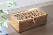 アタ製品透かし編み長方形ケース(リボン)