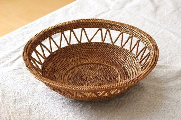 アタ製品透かし編み皿かご(M)画像
