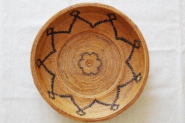 アタ製品花模様柄皿かご画像