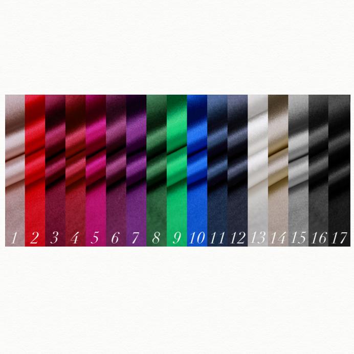 SK1045光沢のある100%シルク - 17色