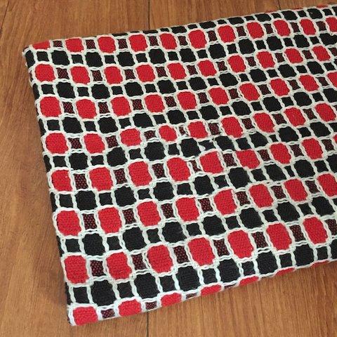 TW1141 赤と黒のウールツイード