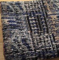 TW1146 ブルーと黒のミックスツイード
