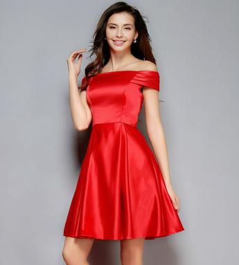 【生地代金込み】ブライズメイドレス オフショルダーミディアムドレス