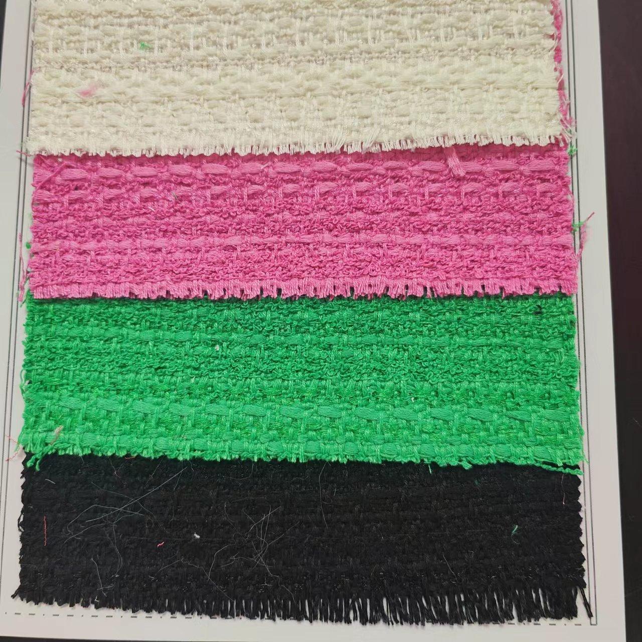 TW1253 ピンク赤のミックスカラーファンシーツイード