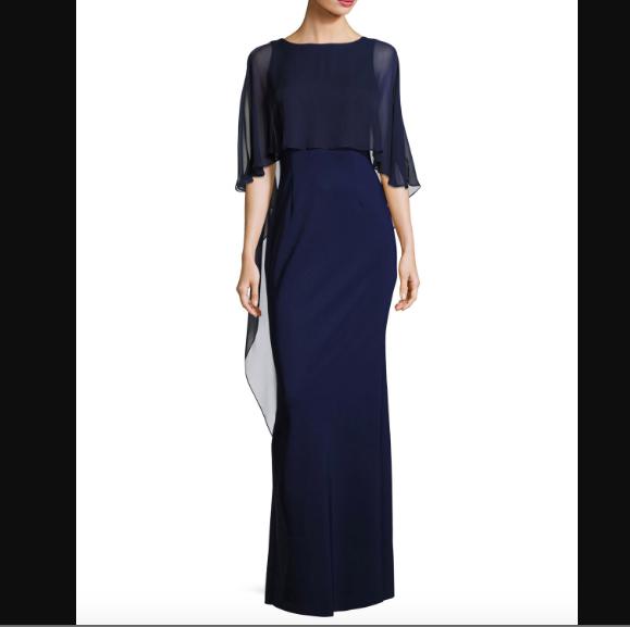 SO1008 セミオーダー ネイビーブルーのロングドレス