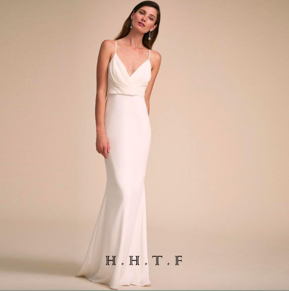 SO1017 セミオーダー 白のスリップロングドレス