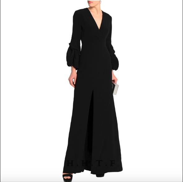 SO1018 セミオーダー 黒の長袖ロングドレス