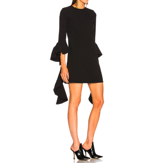SO1019  セミオーダー 黒のワンピースドレス