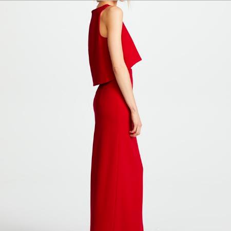 SO1020 セミオーダー 赤のセパレートタイプドレス