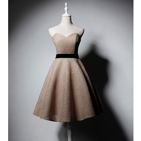 SO1031 セミオーダー ゴールドのブライズメイドドレス