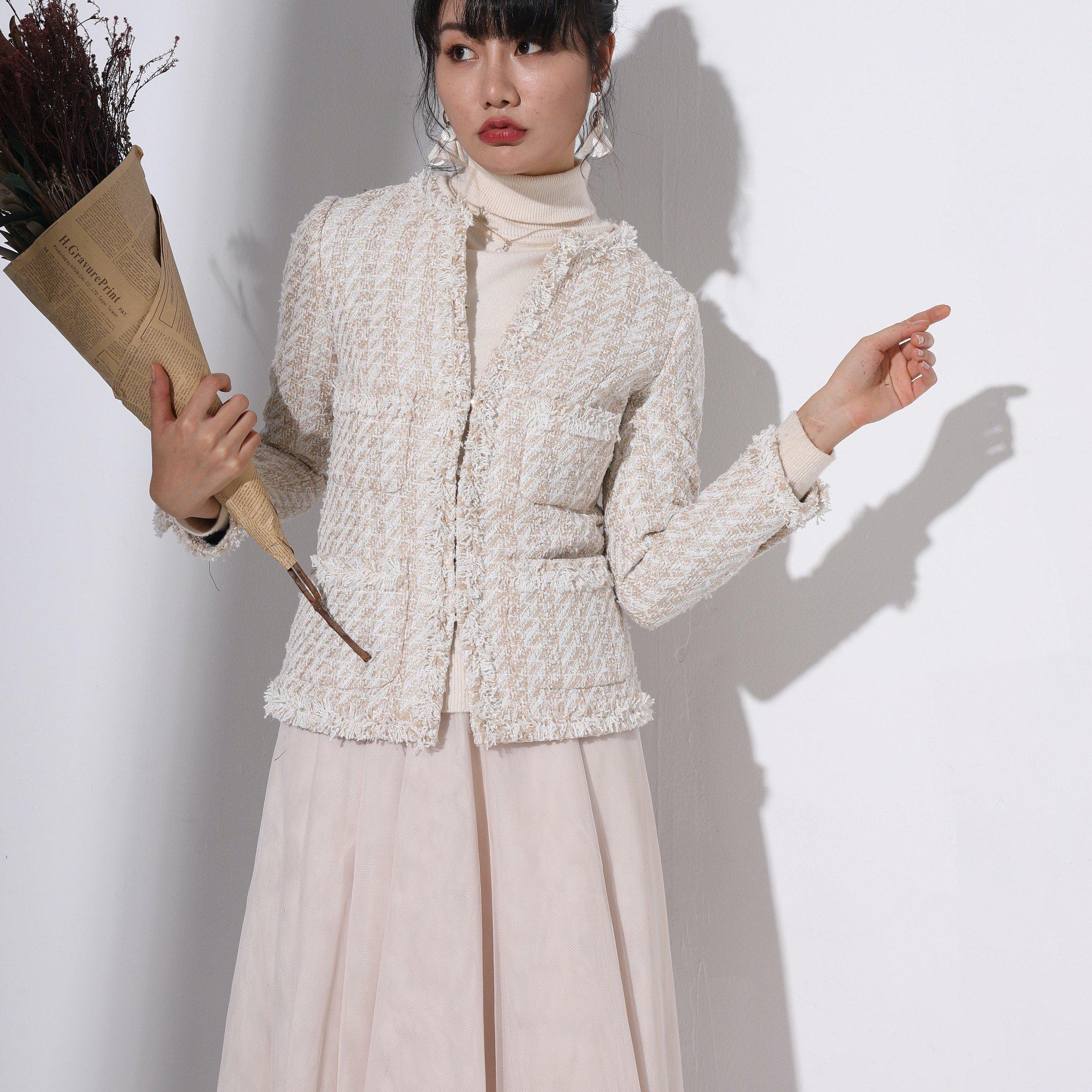 ZNCT016-1 四つポケットミディアム丈 長袖ジャケット(フックタイプ)