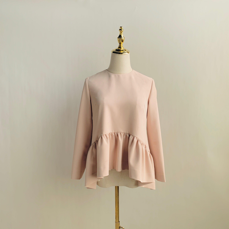 ZNTP011 フリル裾長袖トップス(28色)